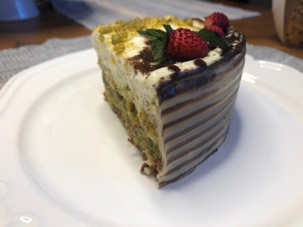 tort pistacjowy – bezglutenowy